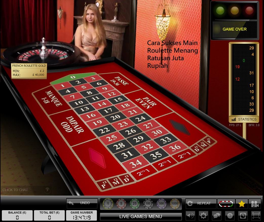 Cara Sukses Main Roulette Menang Ratusan Juta Rupiah