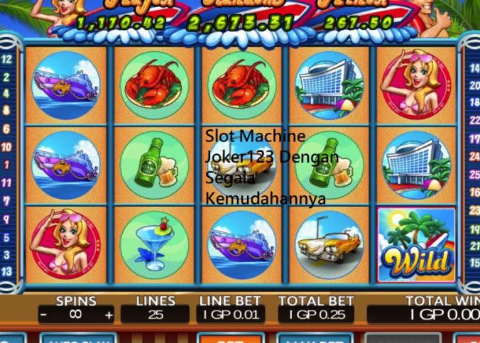 Slot Machine Joker123 Dengan Segala Kemudahannya